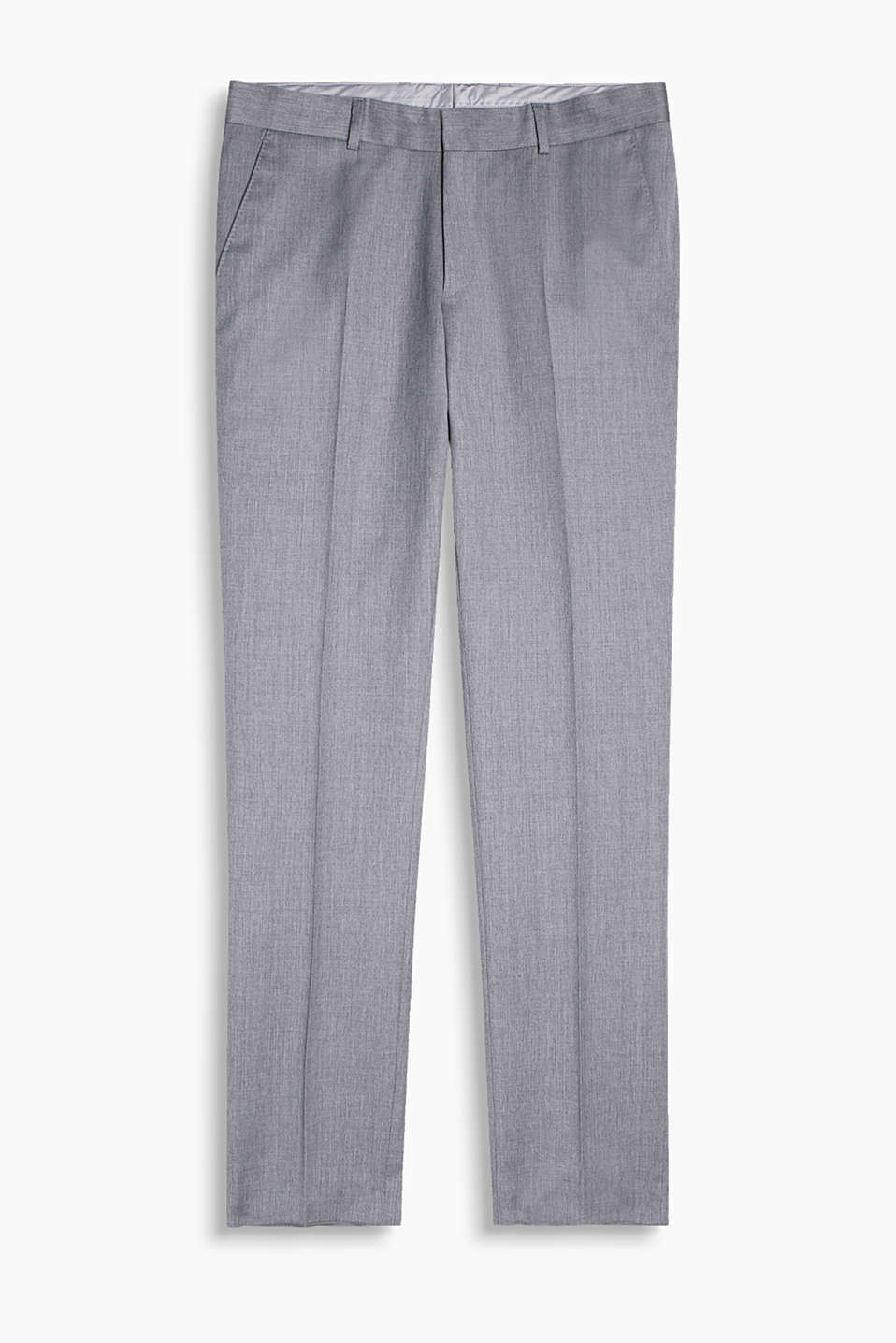 In a summery style: premium suit trousers with waist pleats