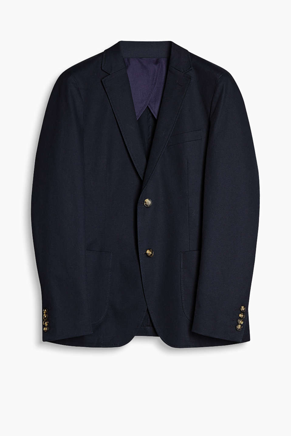 Smart/casual blazer in cotton with a percentage of stretch