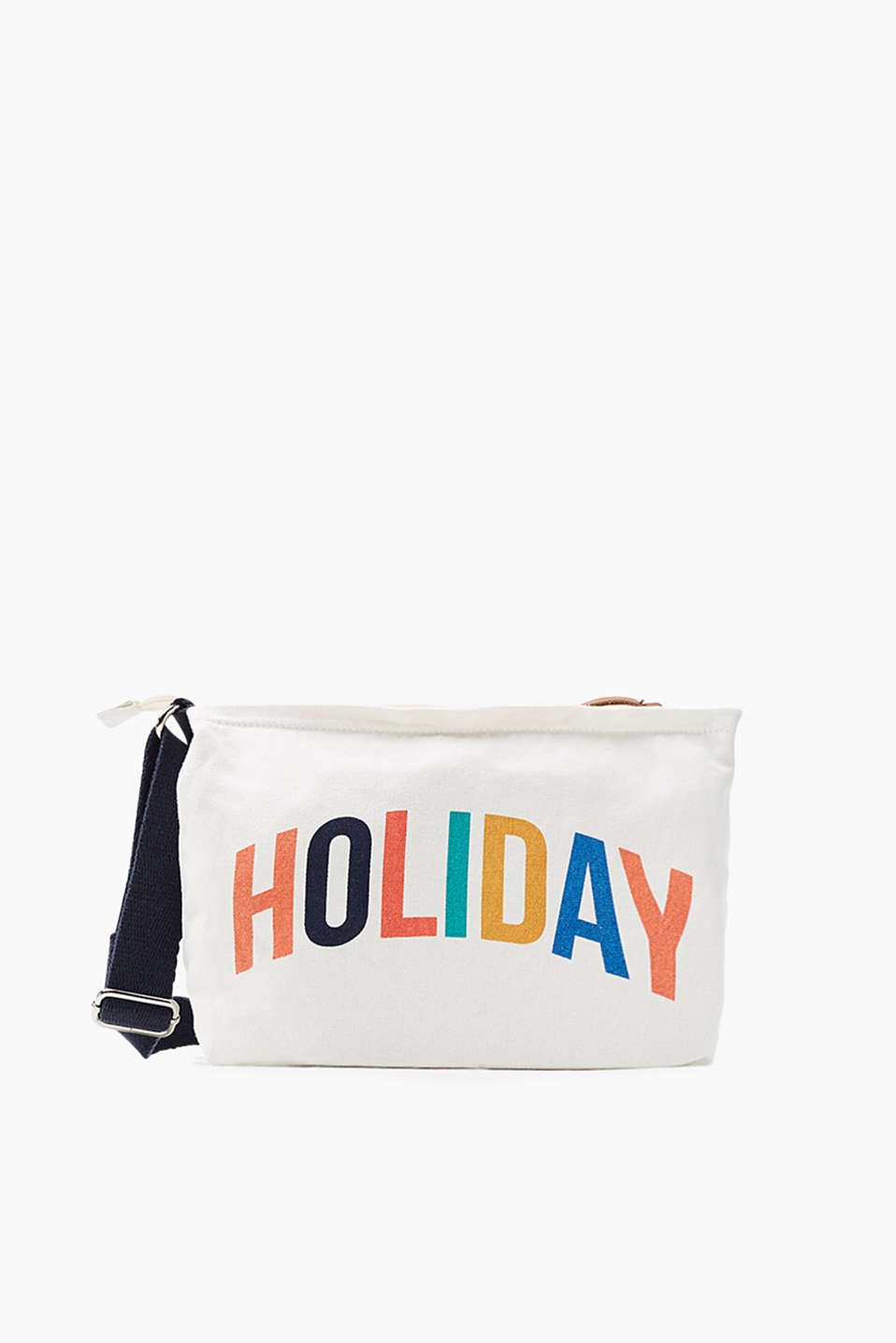 Holiday! Colourful shoulder bag in grainy cotton canvas