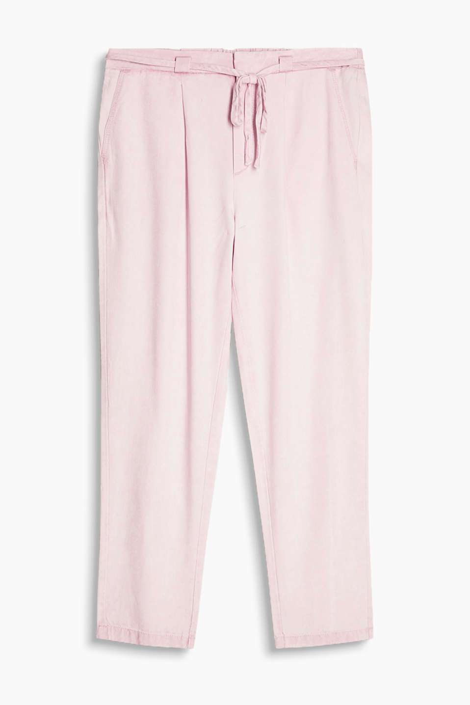 Ankle-length tracksuit bottoms with an elasticated waistband and a casual, trendy dye effect