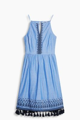 Besticktes Chambray-Kleid