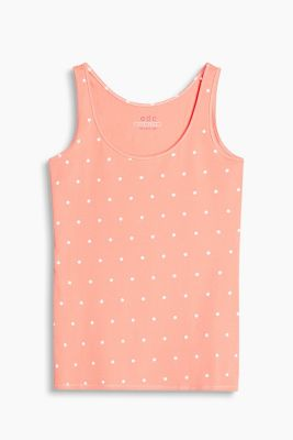 Tank-Top mit Print, Baumwoll-Stretch