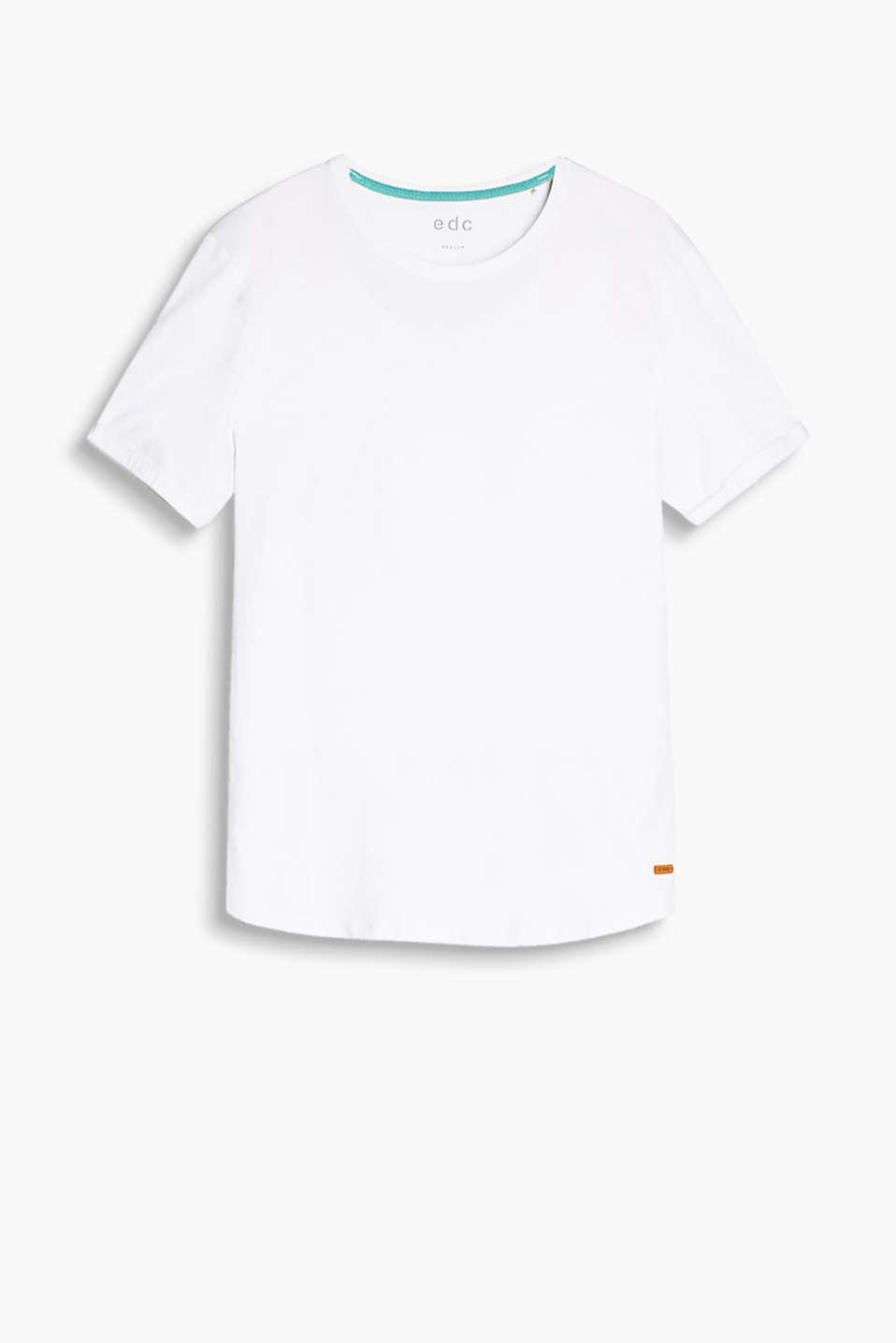 Basic soft jersey T-shirt in a melange look