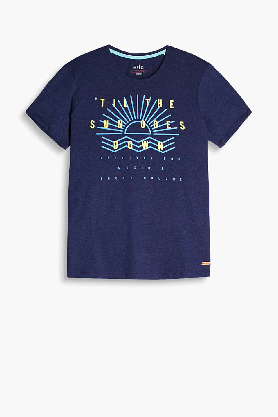 Made of 100% cotton: statement print T-shirt