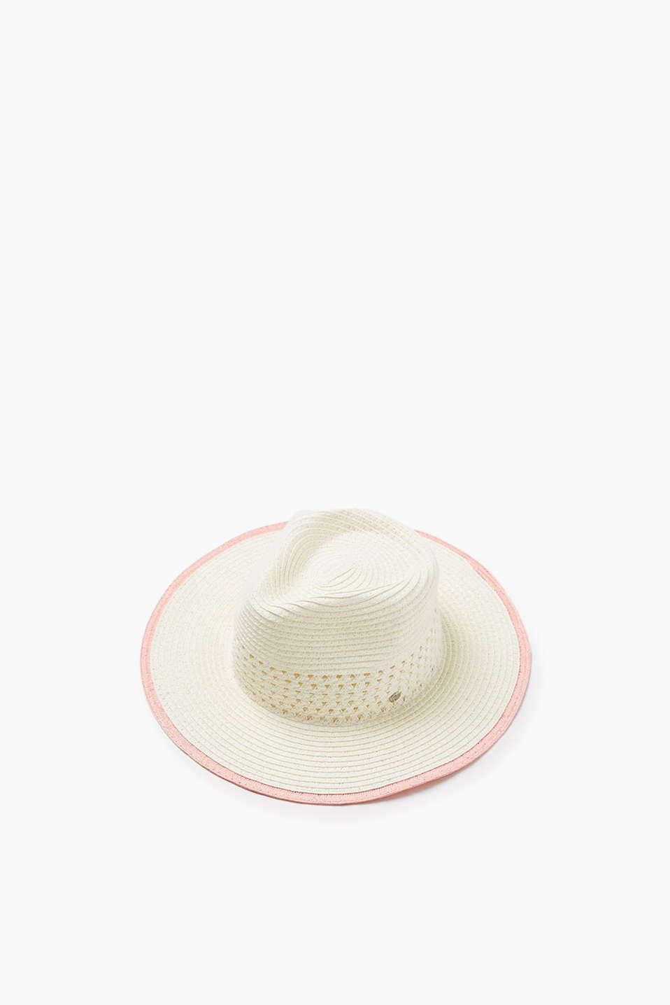 Ideal for your summer holiday! Fedora hat in a straw look
