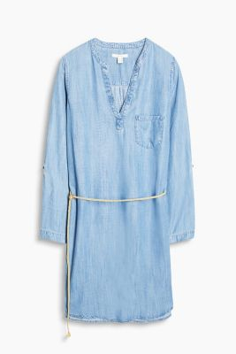 Fließendes Lyocell-Kleid in Denim-Optik