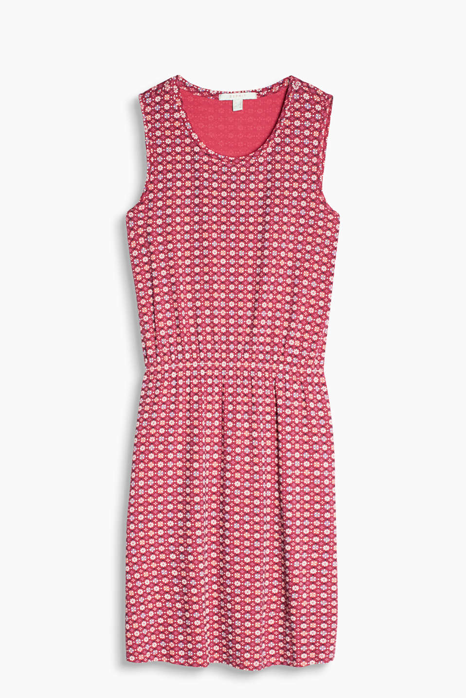 Sweet and simple flowing jersey stretch dress with a beautiful minimalist print