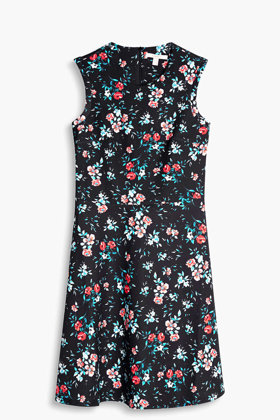 Cheery dress in thick stretch jersey with a floral print