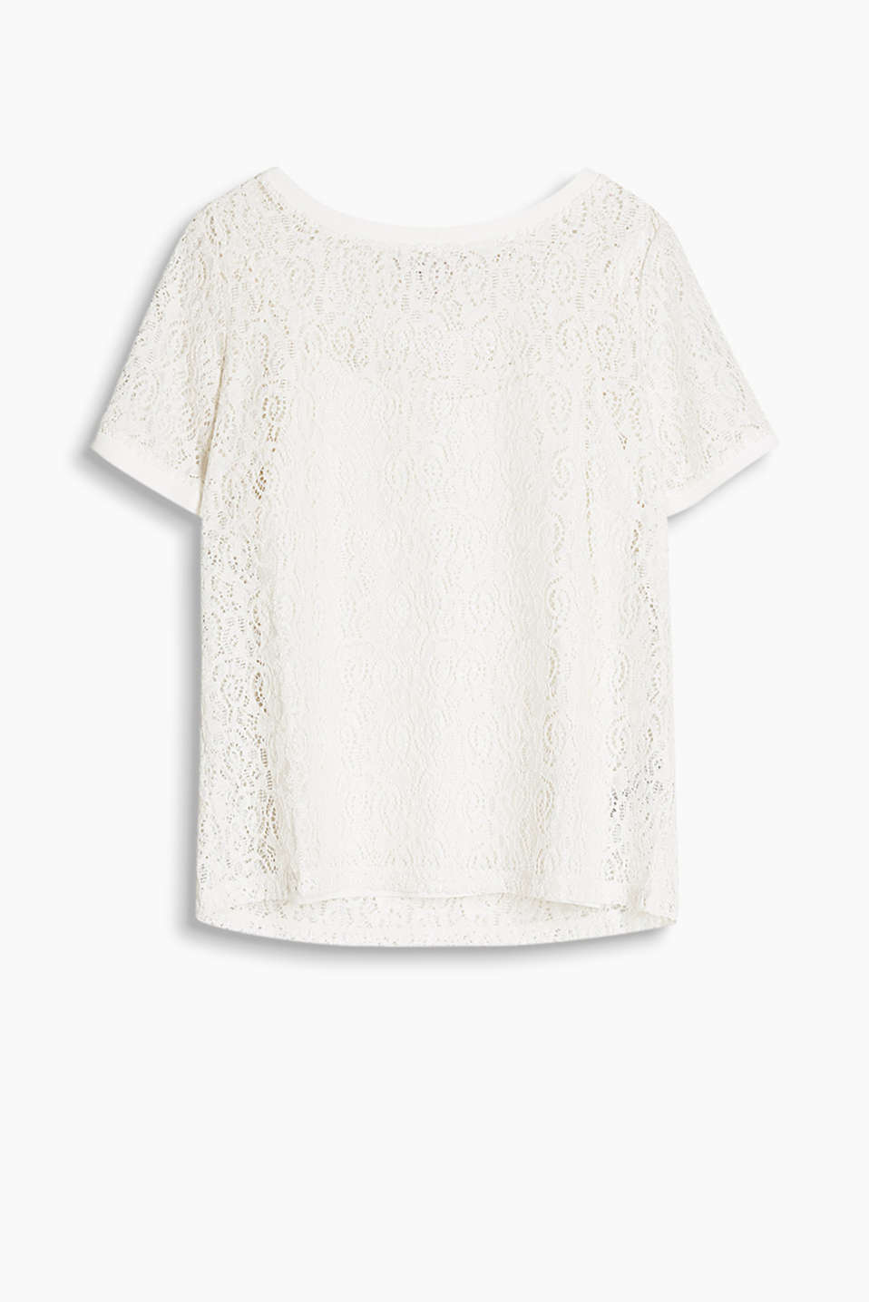 2 in 1: Delicate lace top with an integrated spaghetti strap top