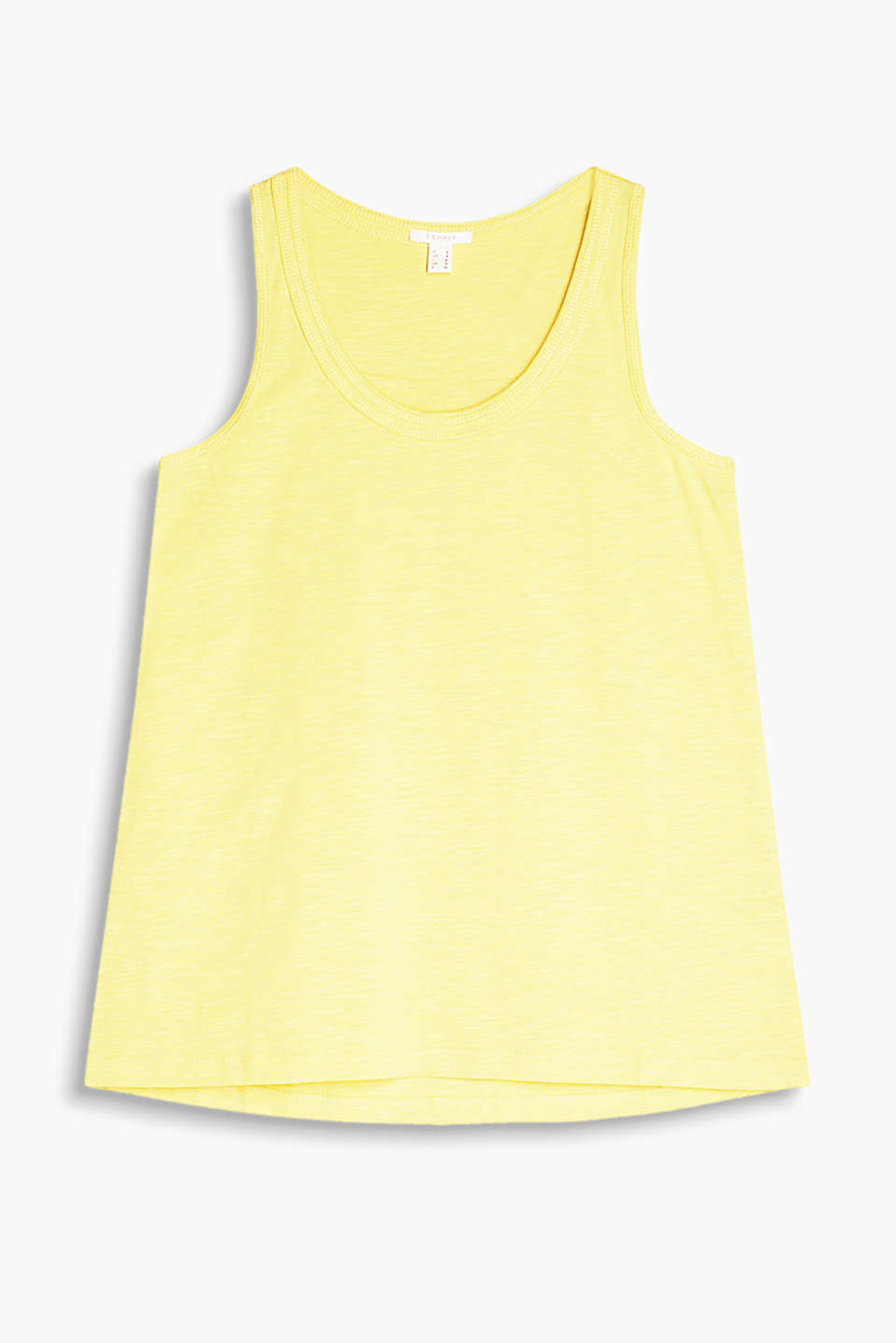 Lightweight and airy: Flared slub jersey top with texture, 100% cotton