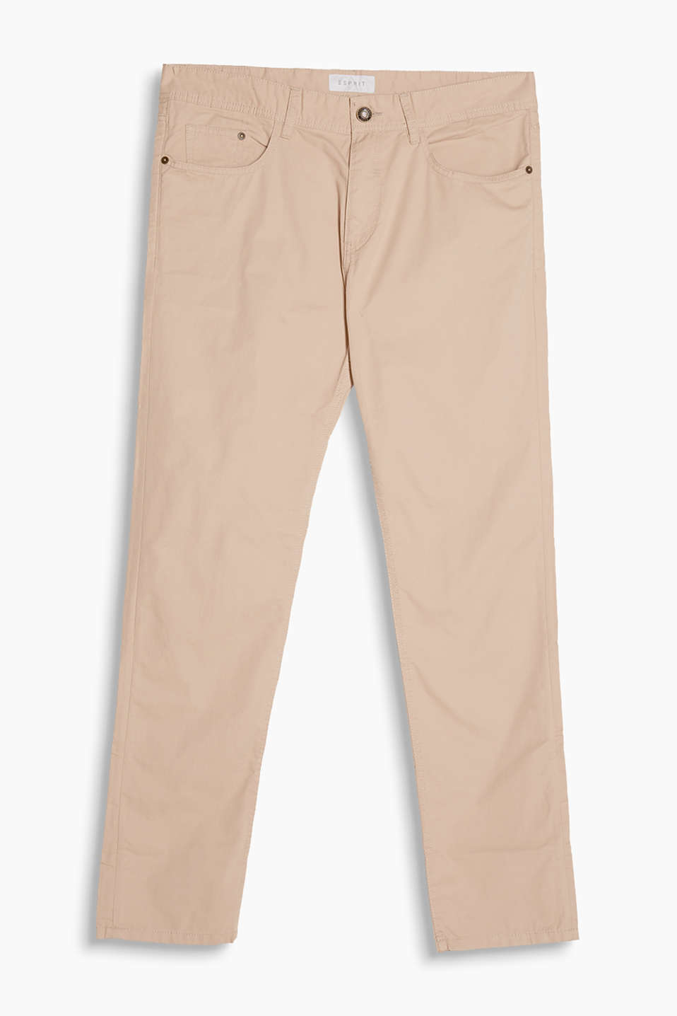 Trousers in a classic five-pocket style