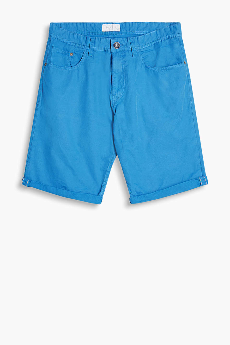 Shorts in a plain-coloured look made of soft cotton fabric
