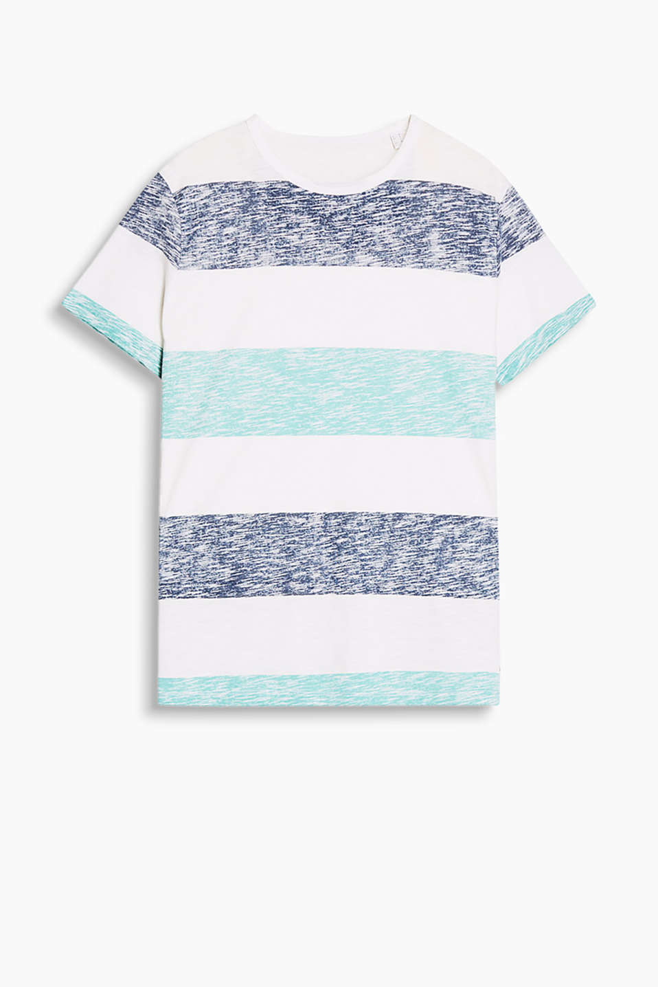 T-shirt made of soft slub jersey with a striped inside-out print