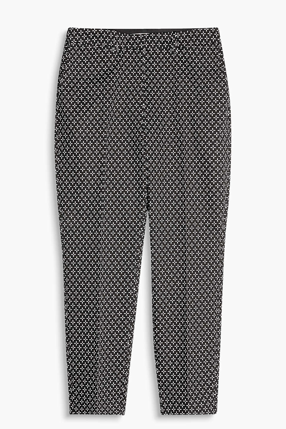 Cropped cigarette trousers made of stretch cotton