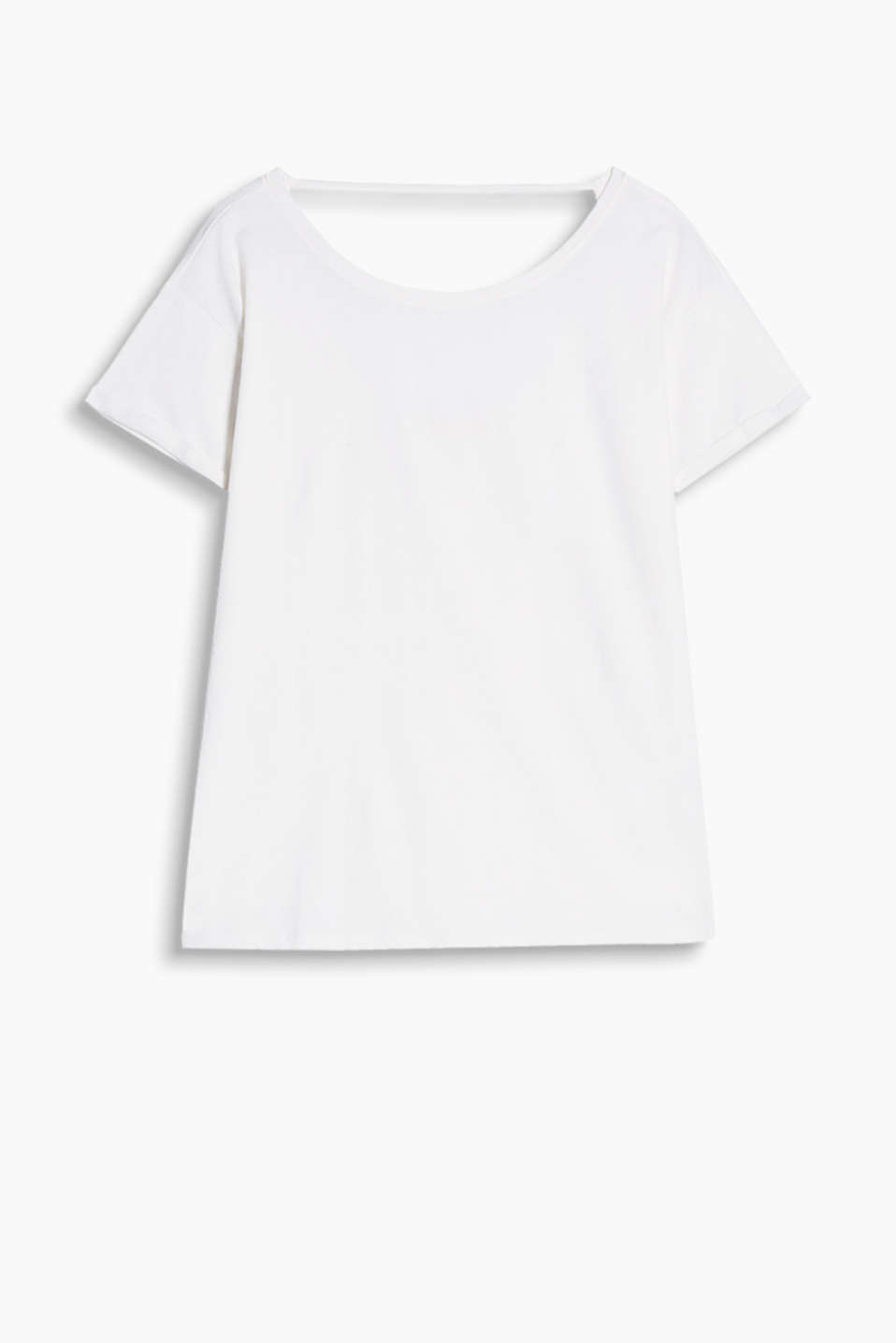 Loose T-shirt with a scoop back neckline and casual, trendy dye