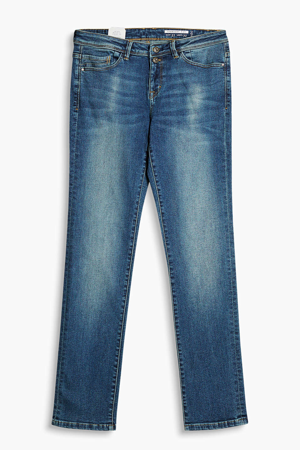 Straight cut, 5-pocket jeans in an authentic garment wash