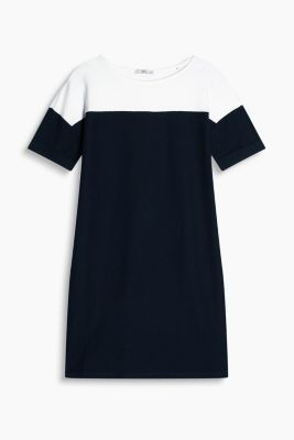 Colourblock-Kleid, 100% Baumwolle