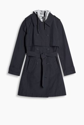 Trenchcoat mit Sweat-Layering