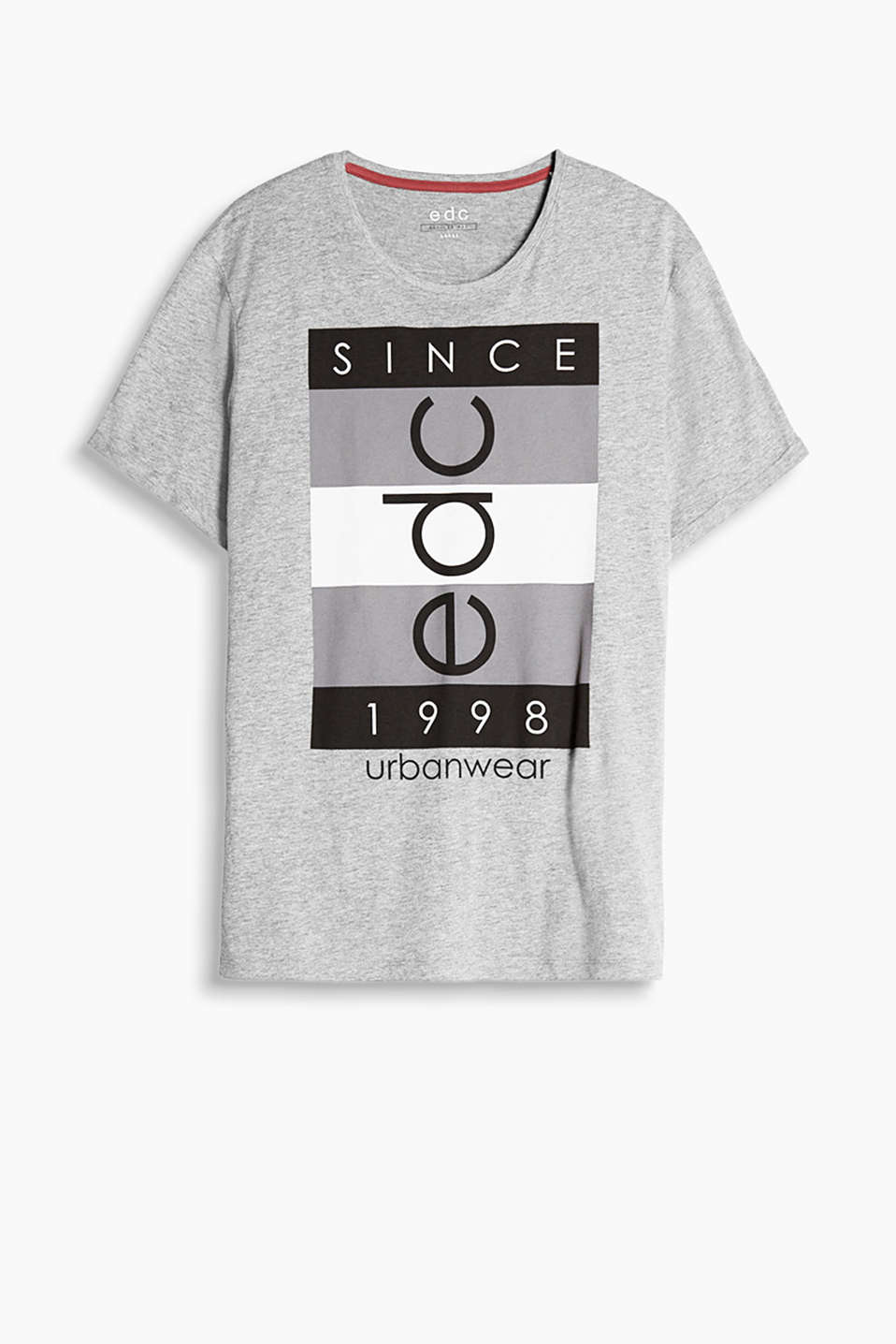 Logo print T-shirt made of soft blended cotton
