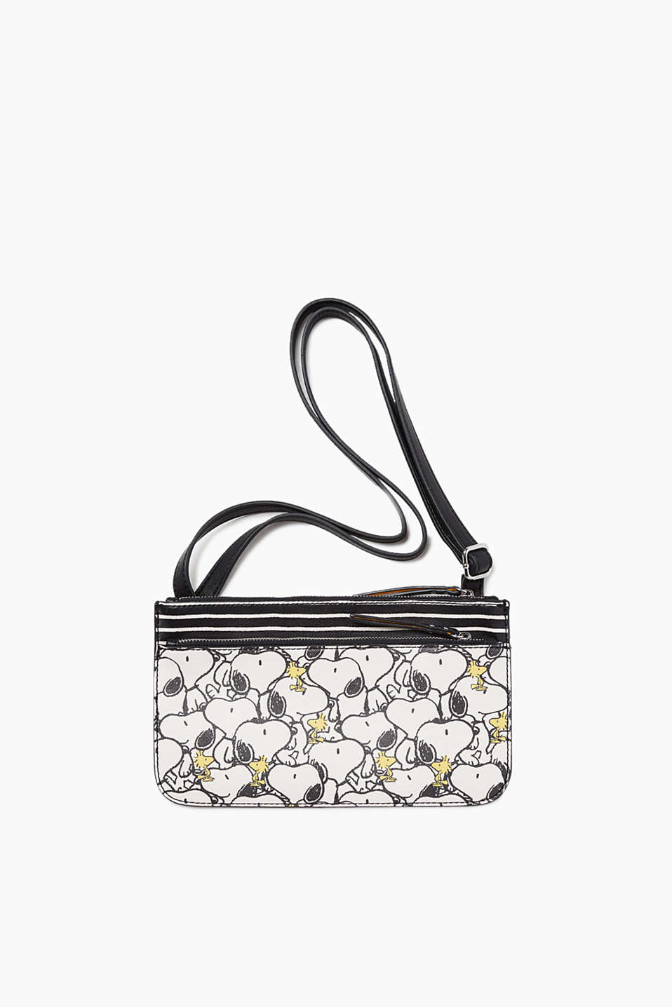 """Peanuts collection"": flat shoulder bag in smooth faux leather"