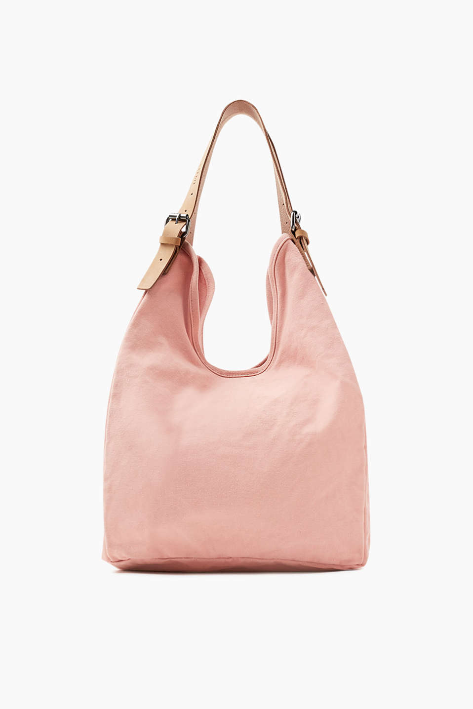 With length-adjustable shoulder straps in fine suede: shopper in a washed look