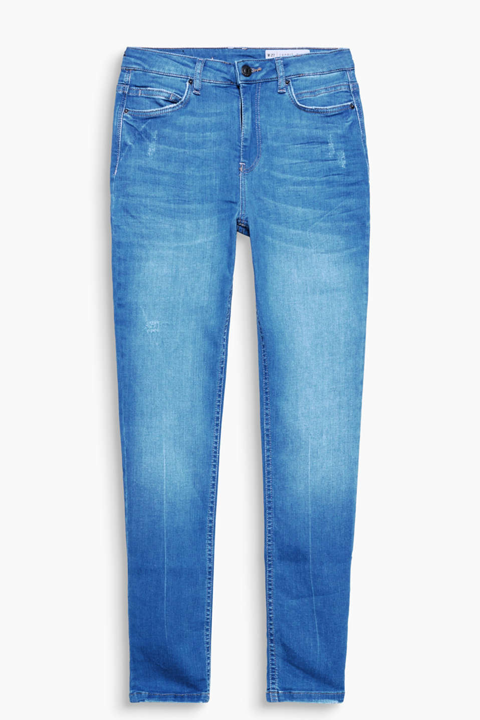 Vintage look stretch jeans with a fashionable high waistband