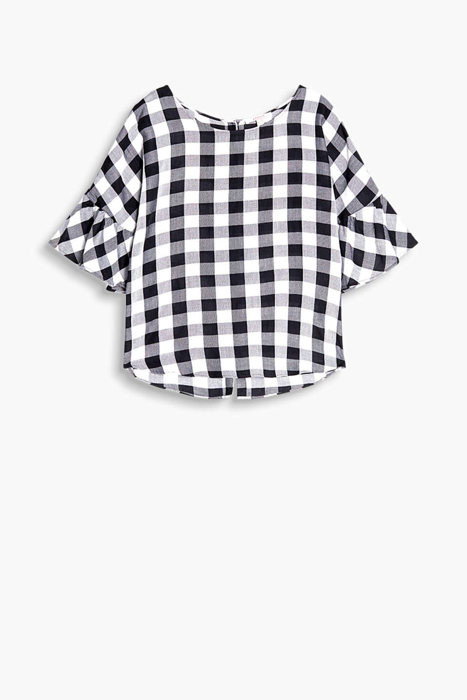 With a stylish check pattern: boxy blouse in a pretty look