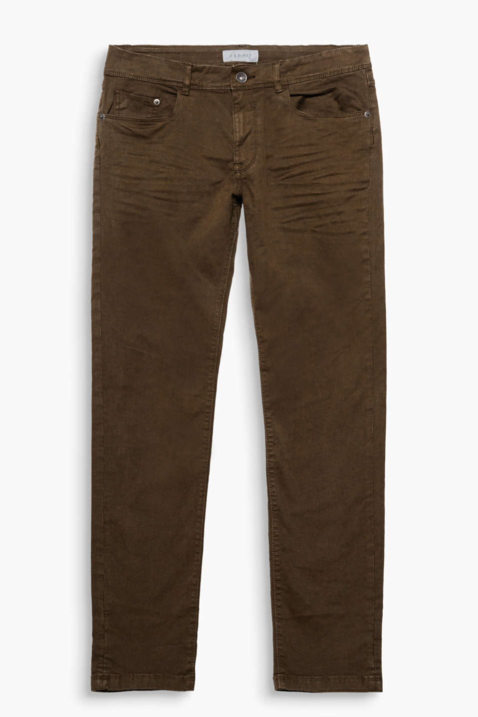 Made of comfy, stretchy cotton: twill trousers in a casual look