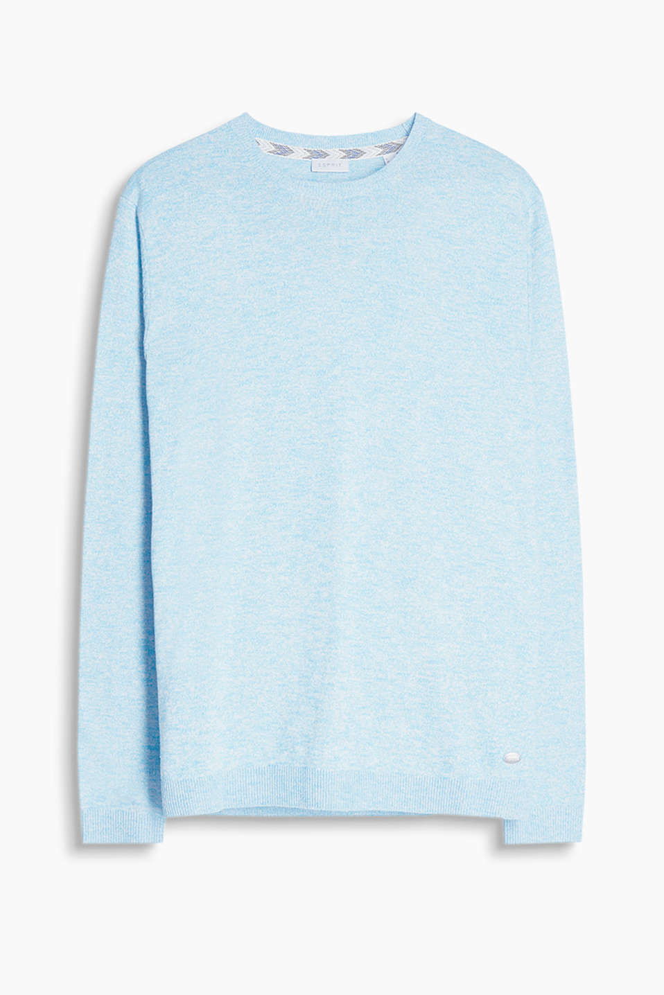 Made of a soft, fine knit yarn: jumper with ribbed cuffs and waistband, in pure cotton