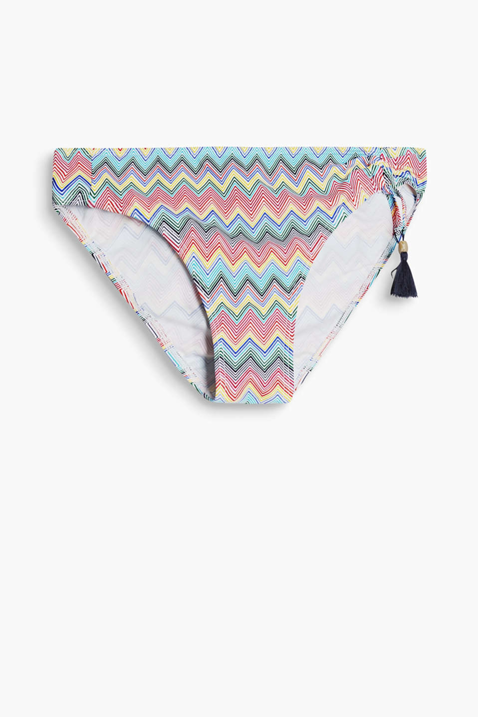 Collection: CLURES - bikini bottoms with a zigzag print and tassels