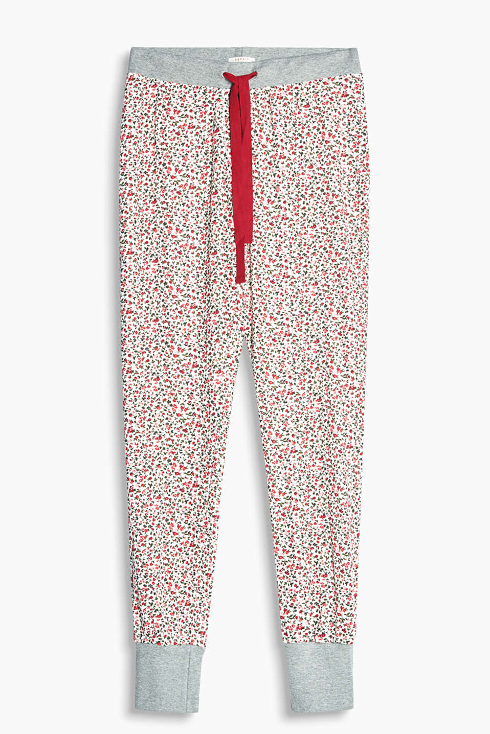 Lightweight jersey pyjama bottoms with an all-over floral print and elasticated waistband