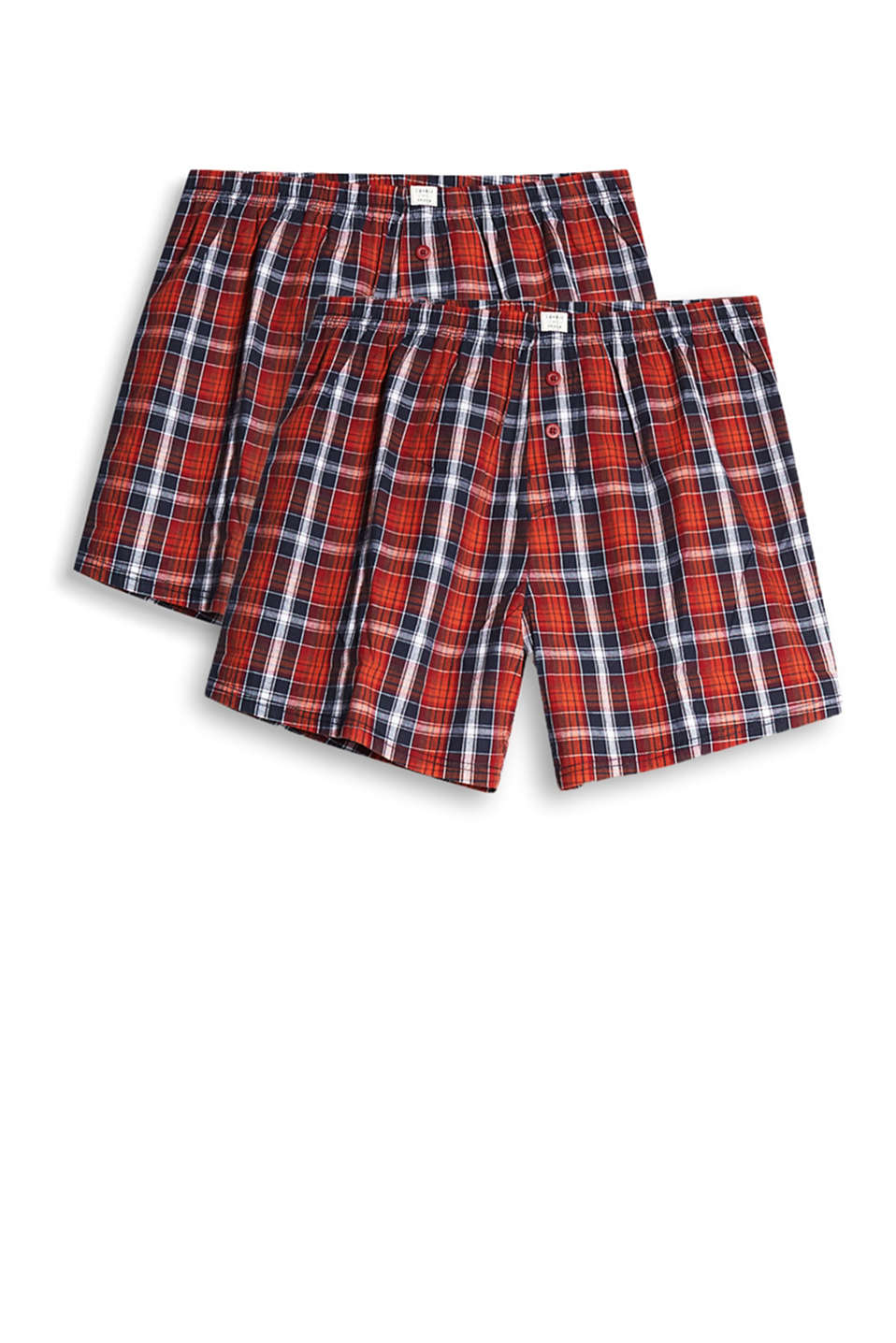 Boxer shorts and checks - a great mix! Available as a double pack in pure, smooth cotton!