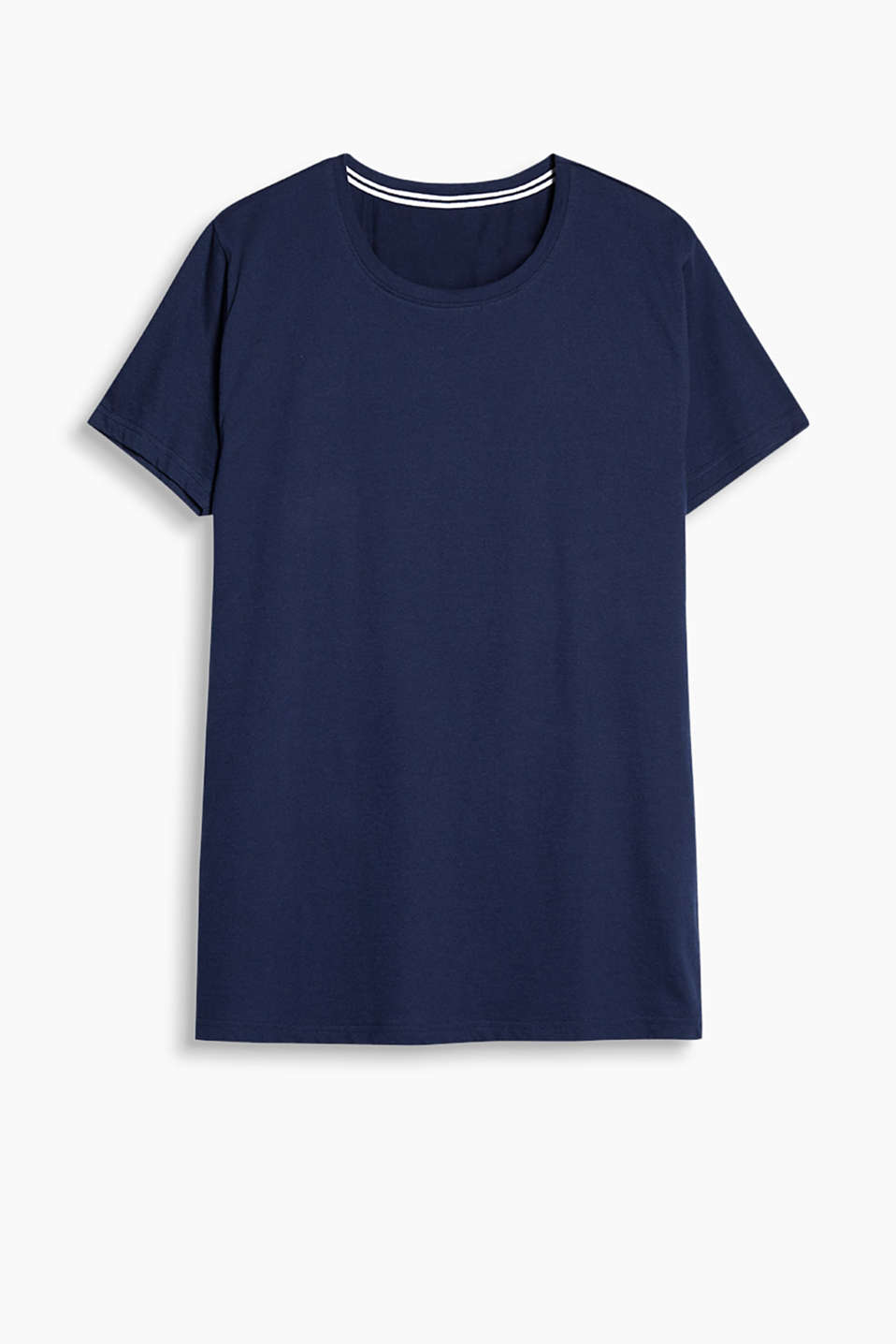 Made of 100% cotton: Round neck T-shirt