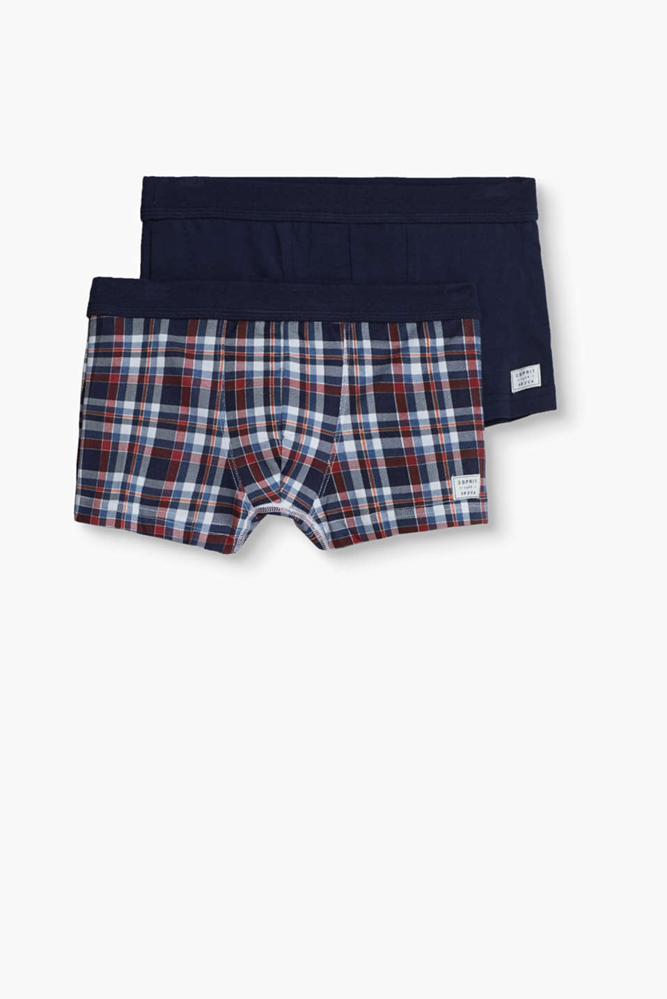 Plain or checked: Either way, this double pack of hipster shorts is super comfortable