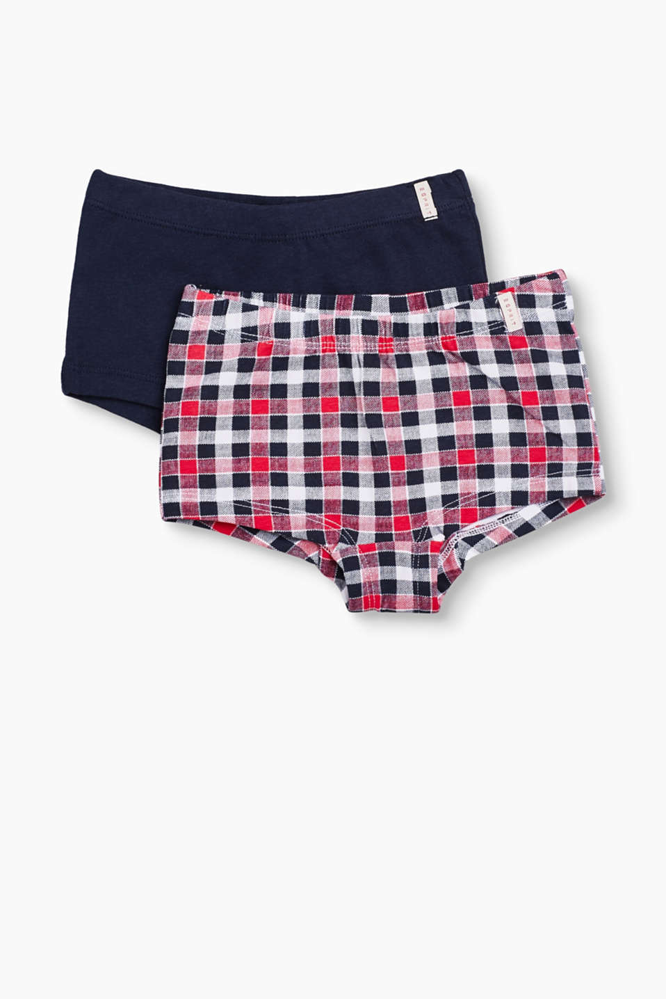 Plain or checked: Either way, these boxer shorts made of stretch cotton are super comfortable