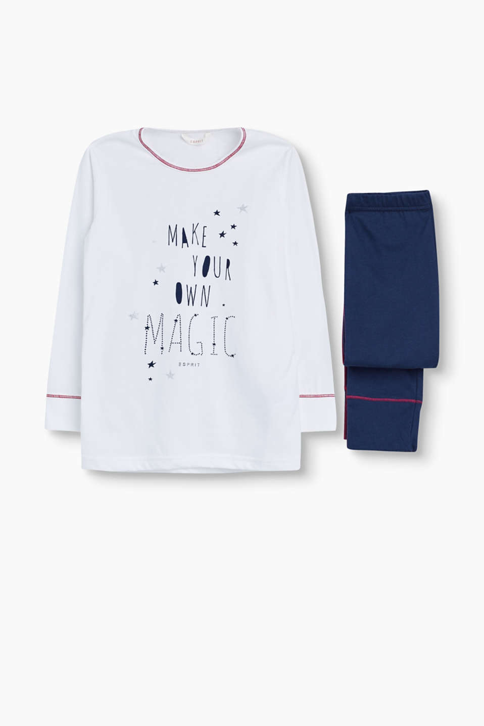 These slogan print pyjamas are wonderfully soft and look very fashionable.