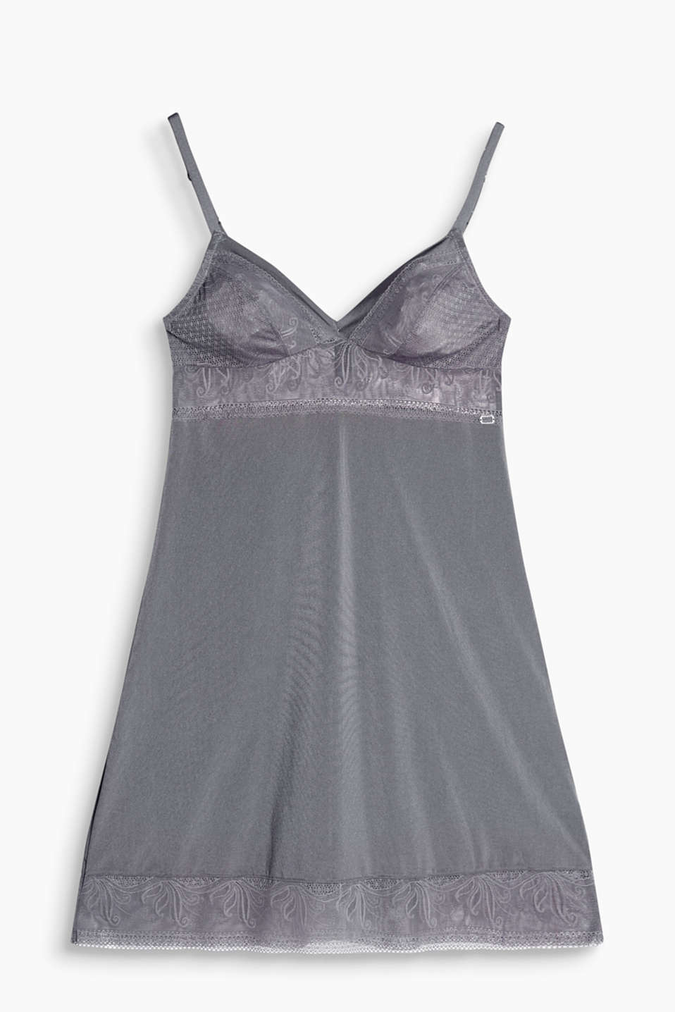 Collection: WASHINGTON - silky chemise with filigree lace