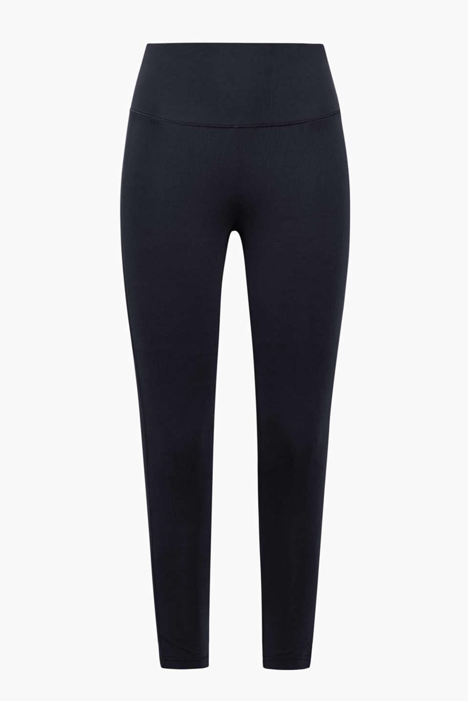 Sporty, bekvemme 7/8-tights i funktionelt E-DRY-materiale med bred, elastisk linning