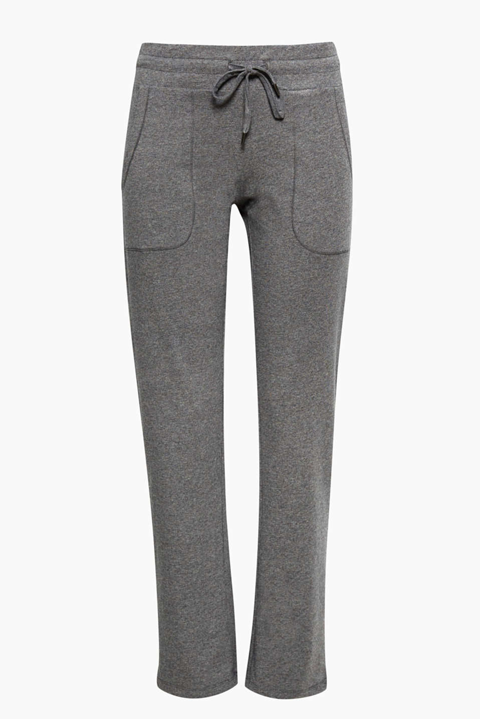 Made of soft blended cotton: tracksuit bottoms with an elasticated waistband