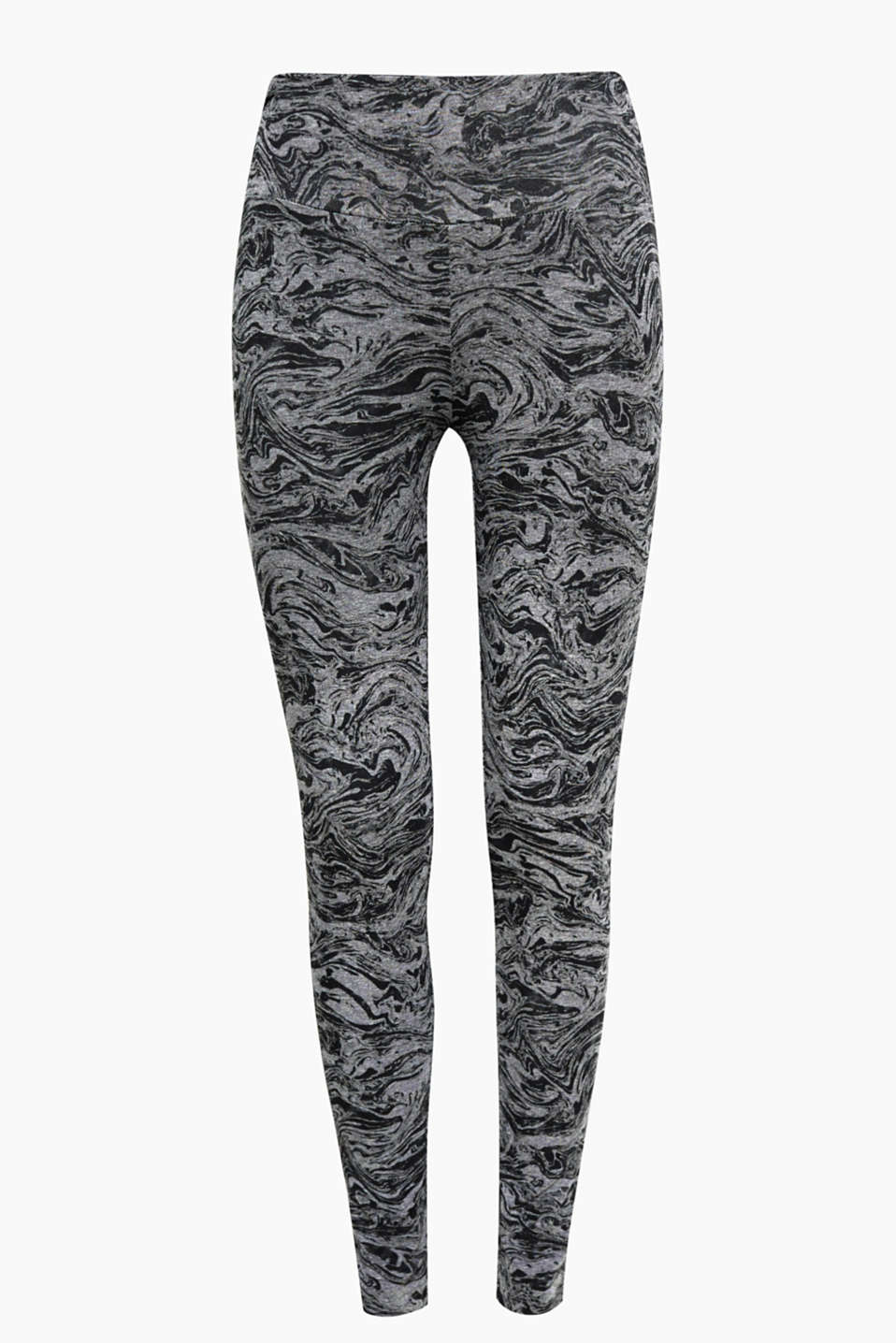 Vous allez faire sensation : avec ces leggings confortables à imprimé all-over cool en coton stretch