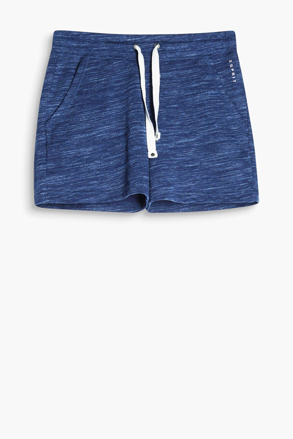 Sporty shorts in soft, lightweight sweatshirt fabric, cotton blend
