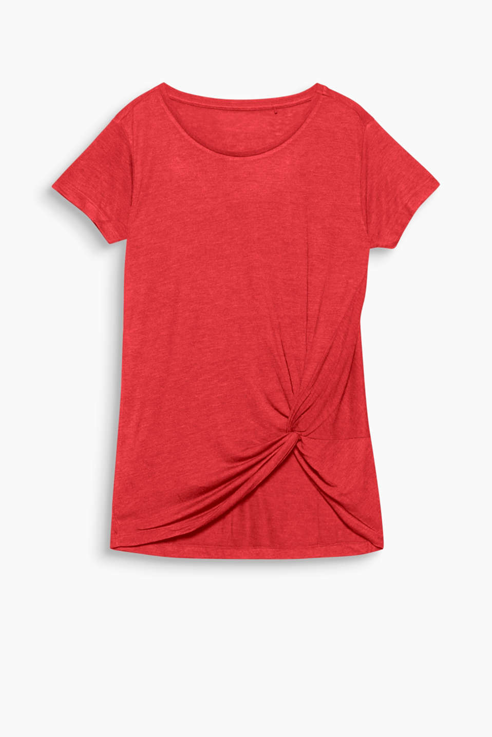 Feminine wellness: Now casual tops feature details like decorative knot effects!