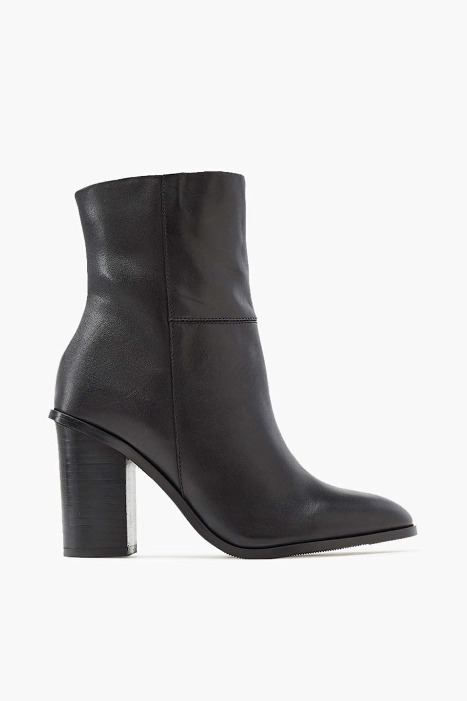 Ankle boots in smooth cowhide with a practical inside zip