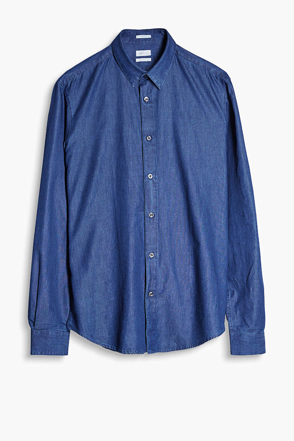 """The Wardrobe"": Shirt with a new Kent collar and high-quality indigo dye"