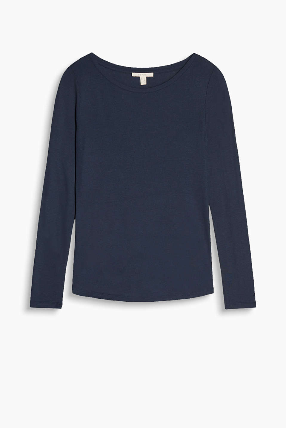 So soft and minimalist - long sleeve top made of finely ribbed jersey