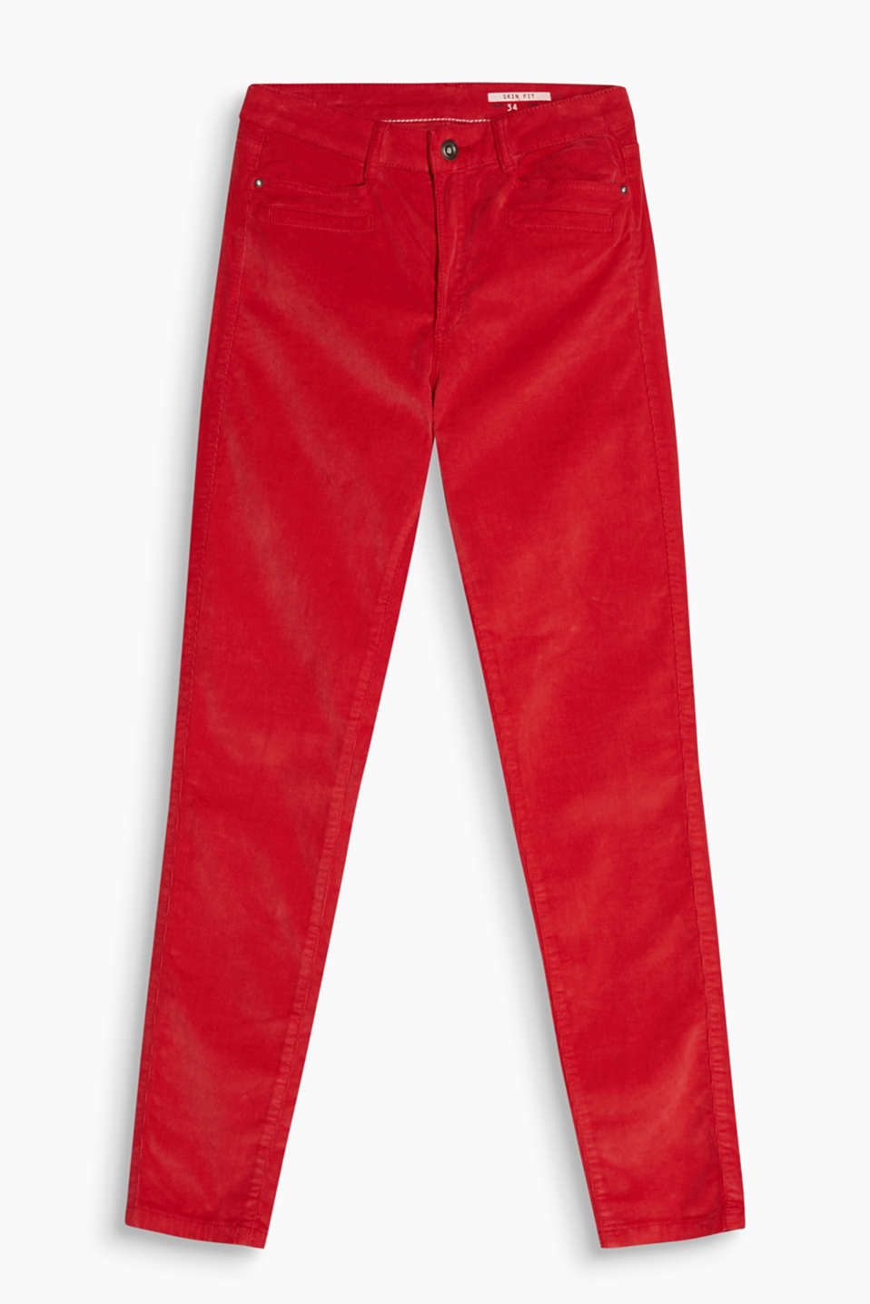 Five-pocket corduroy trousers in blended cotton