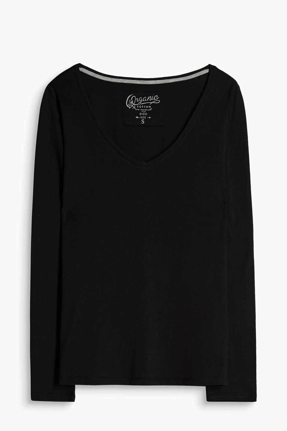 This jersey long sleeve top in pure organic cotton is a sustainable fashion essential