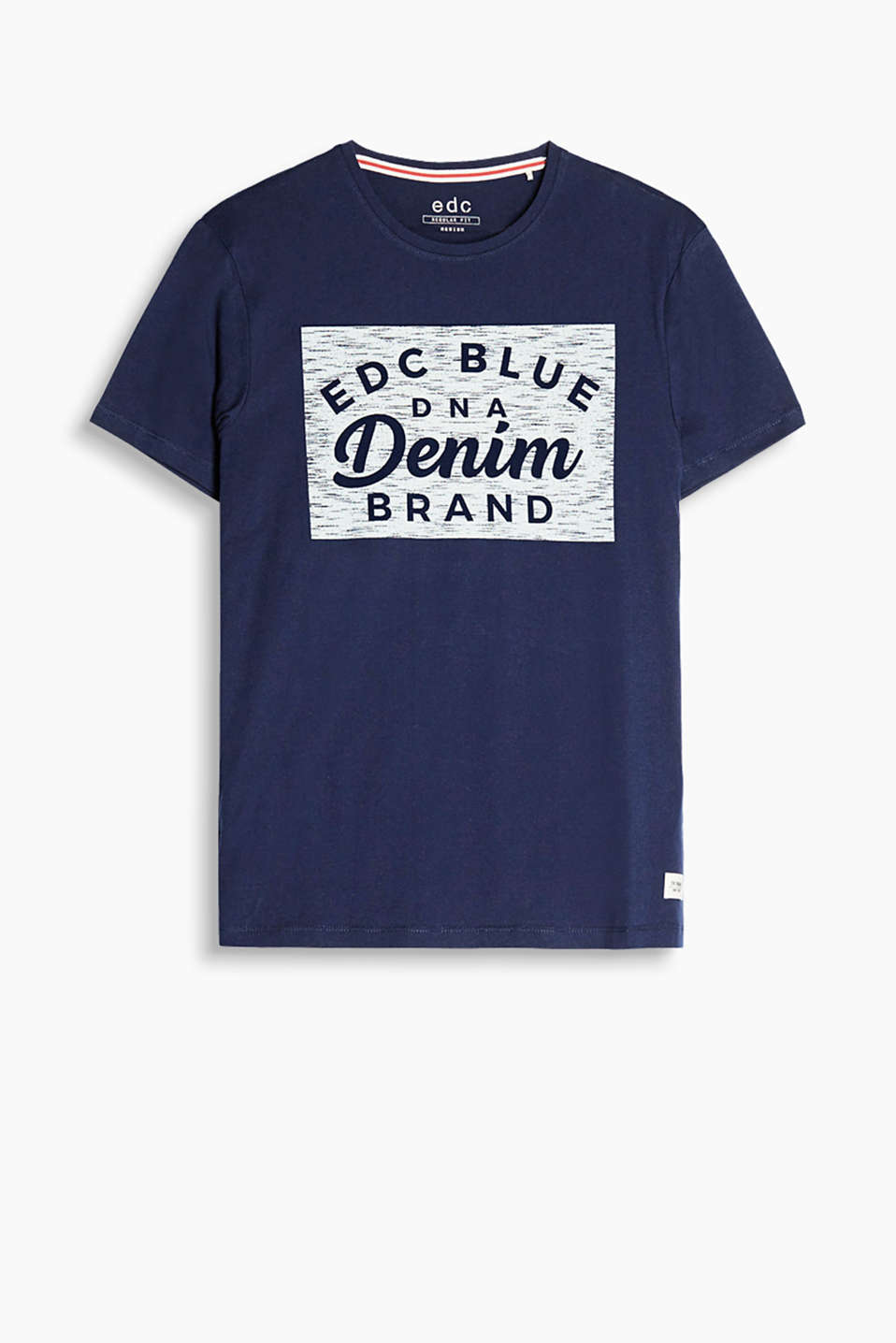 With logo print: pure cotton-jersey T-shirt