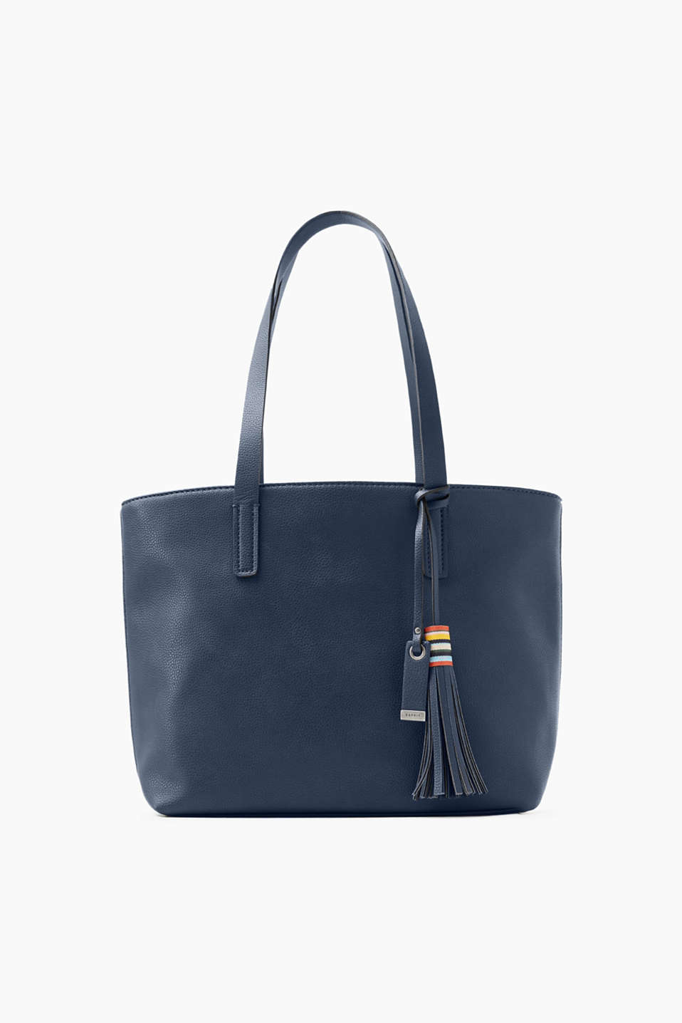Shopper in high-quality faux leather with narrow handles