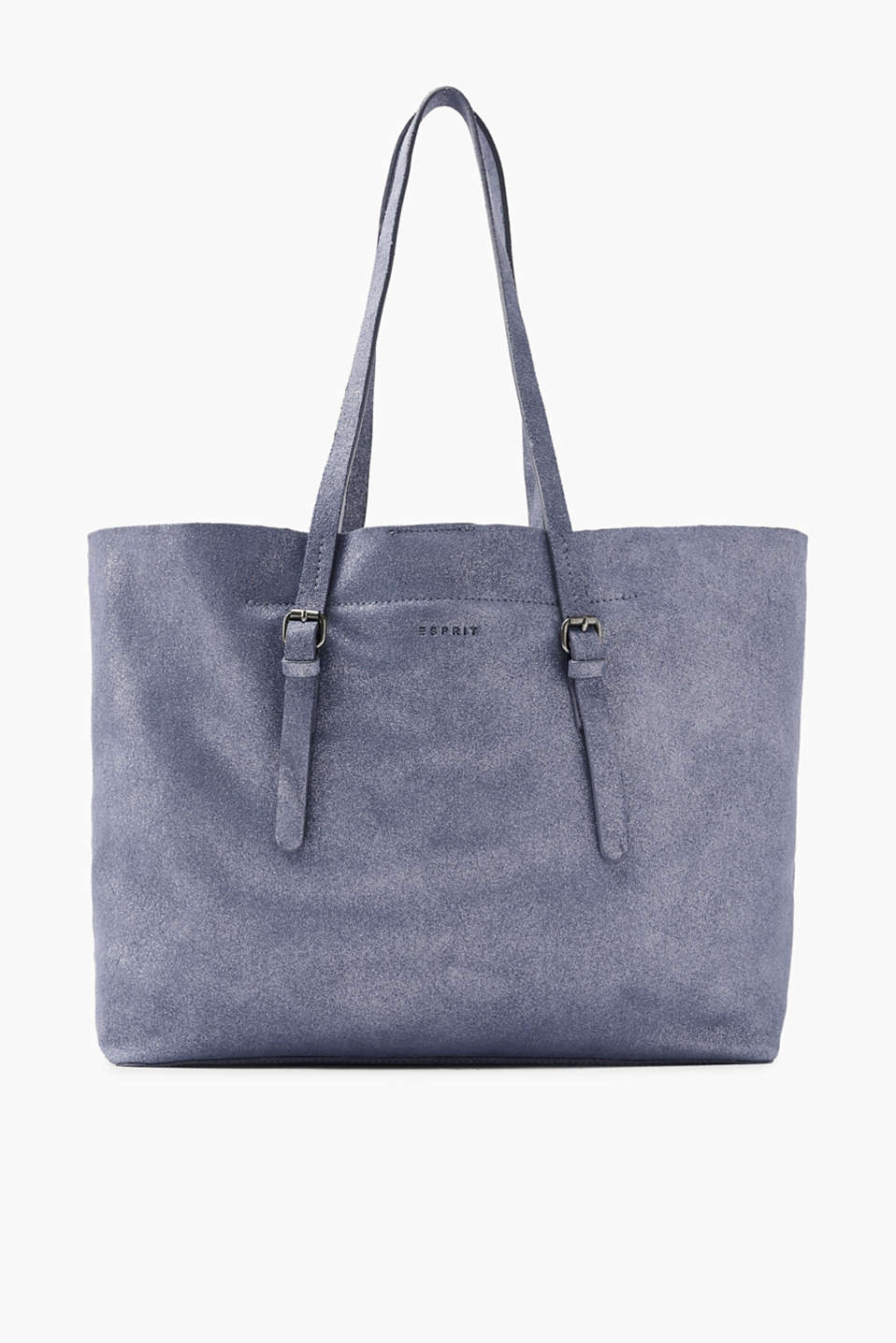 With a glitter effect: shopper in super soft suede